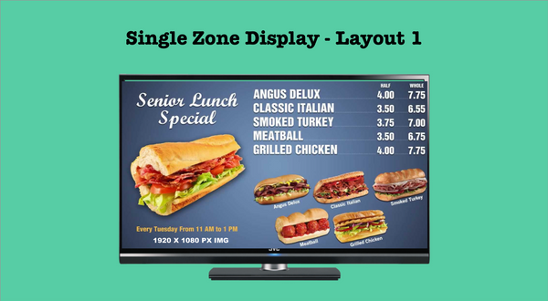 Creating a playlist in piSignage : Part 1 - playlist for a single zone display