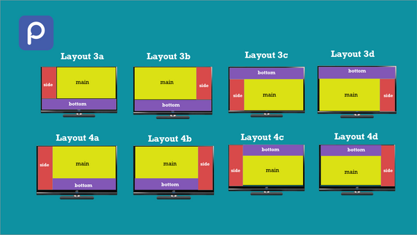 Quick demo of creating a 3 zone display in layout 3a